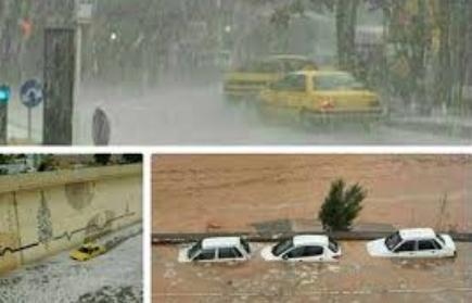 بارش کم اما سیل آسا نتیجه تغییر اقلیم در کشور ایران